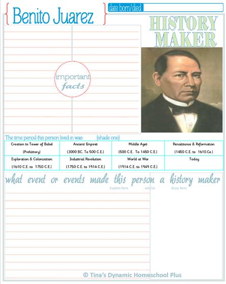 History Makers Set 1 2@ Tina's Dynamic Homeschool Plus