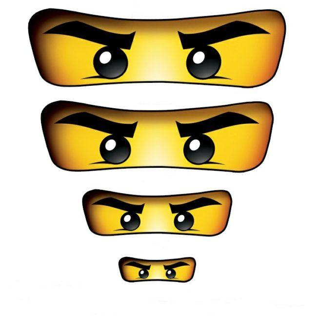 Ninjago Basteln Vorlage Augen Geburtstag In 2019 Lego