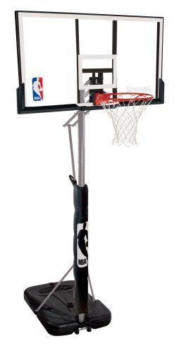 Spalding 72307pr Portable Basketball System 52 Acrylic Backboard