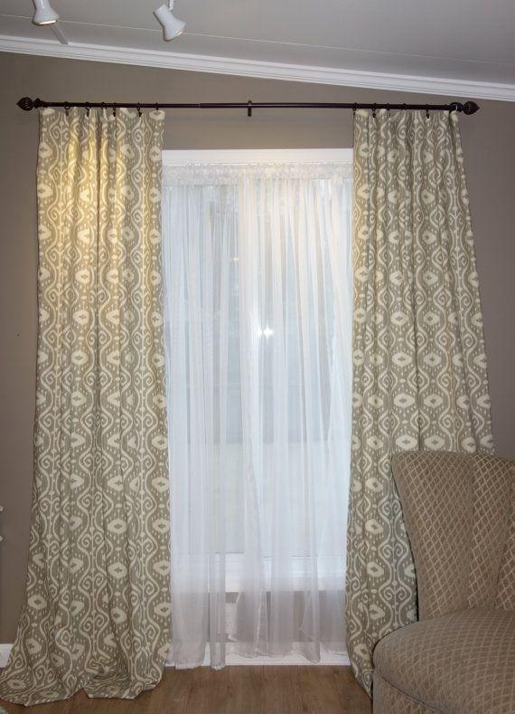 Bali Ikat Curtain Panel Grey Ikat Curtains By Sewdivinebyamanda