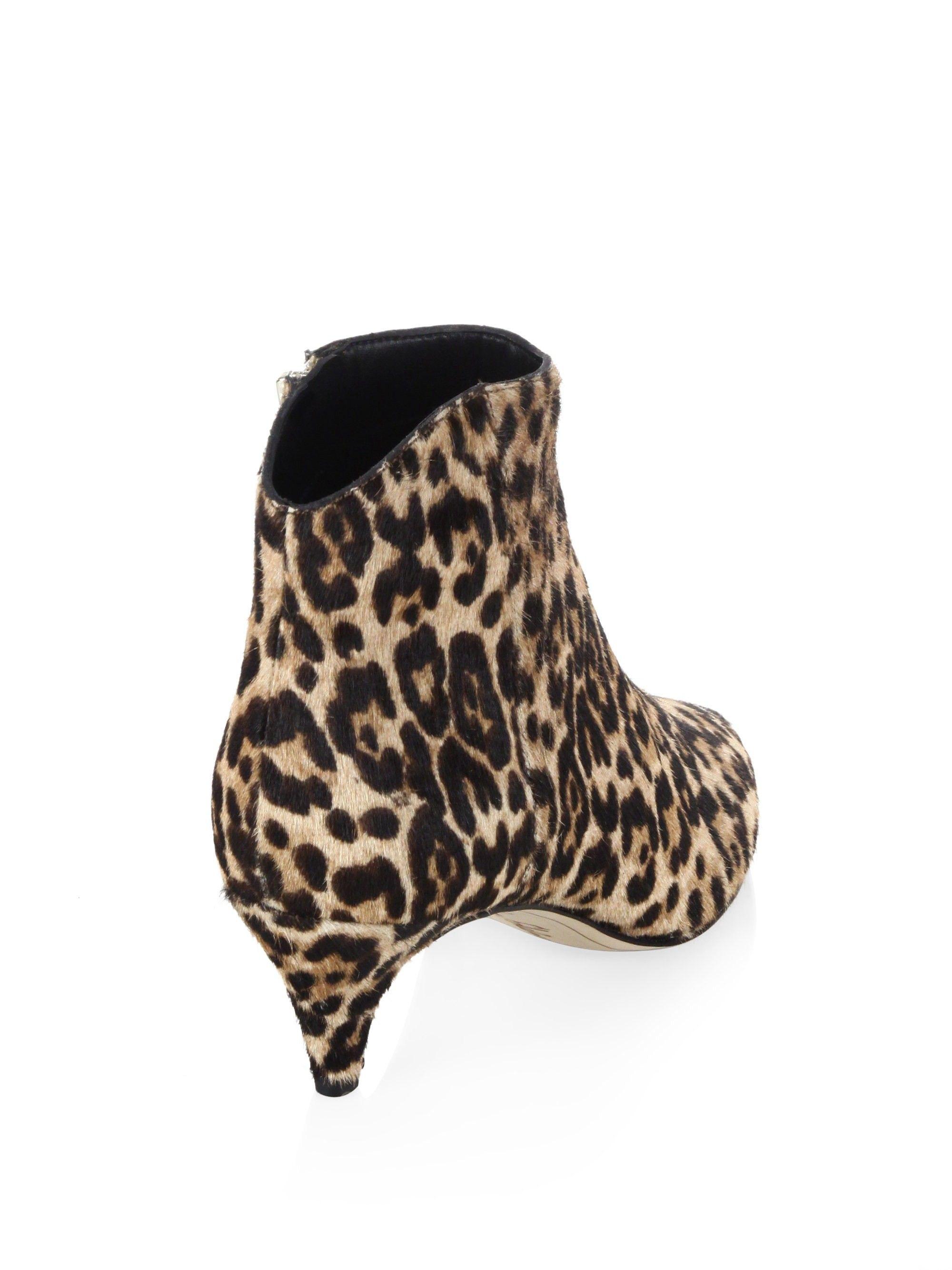 ef94113143dbef Kinzey Leopard Print Calf Hair Kitten Heel Booties by Sam Edelman in ...