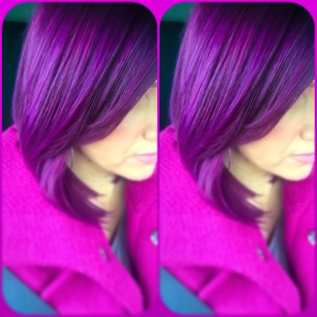Pravana violet and wild orchid mix #purple #pravana | Hair/makeup ...