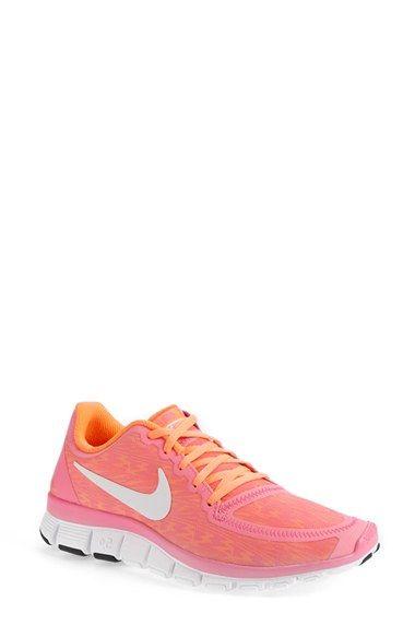 Nike 'Free 5.0 V4' Running Shoe (Women) | Nordstrom | Pink Glow