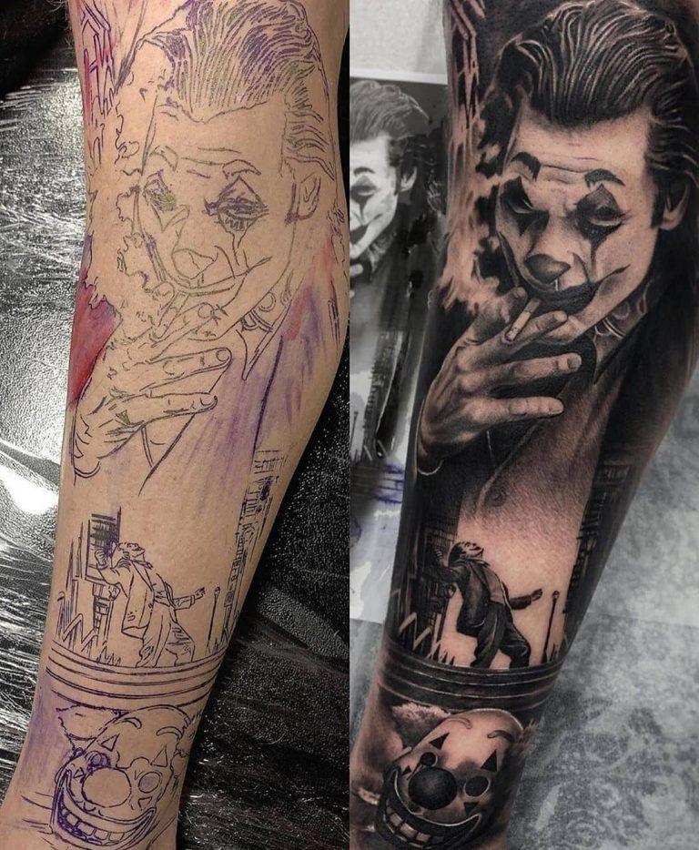 Insane Joker Tattoo in 2021 | Joker tattoo, Joker tattoo design, Sleeve tattoos