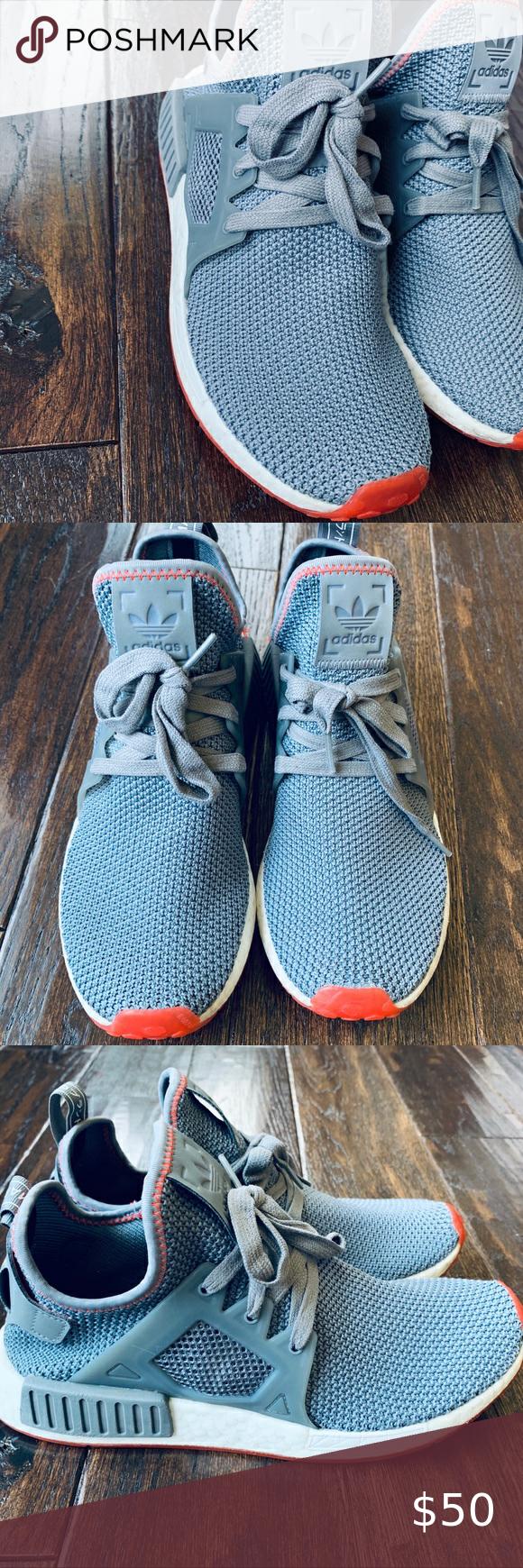 adidas nmd xr1 grey solar red