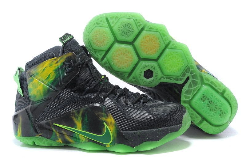 30983533563a3 Cheap Nike LeBron XII EP Black Green Basketball Shoes on sale ...