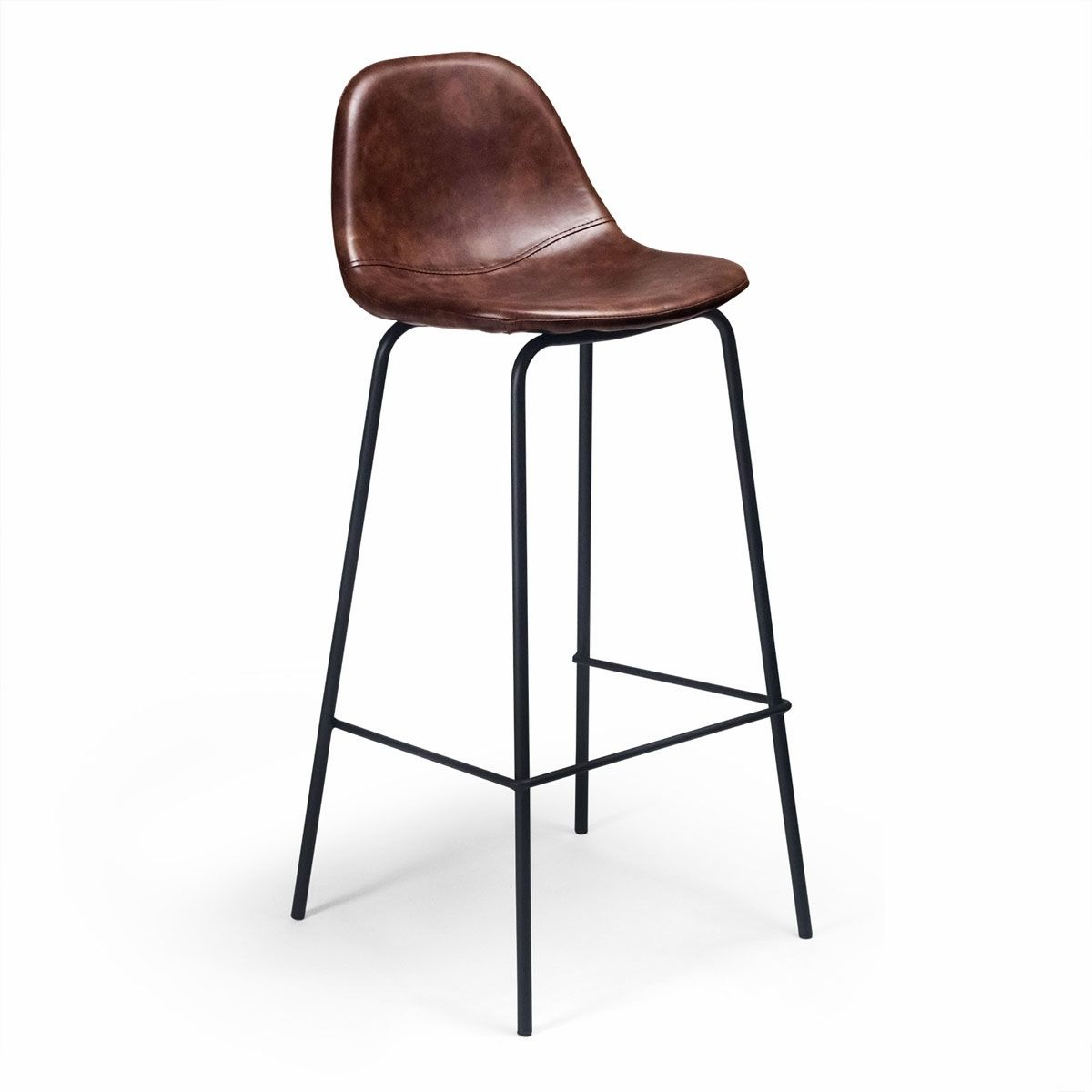 Sigfred Barstool Leather Bar Stools Leather Counter