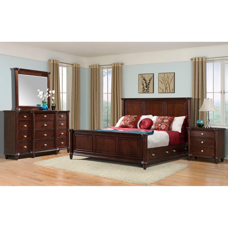 Gavin Bedroom Storage Bed Set Choose Your Size Bedroom