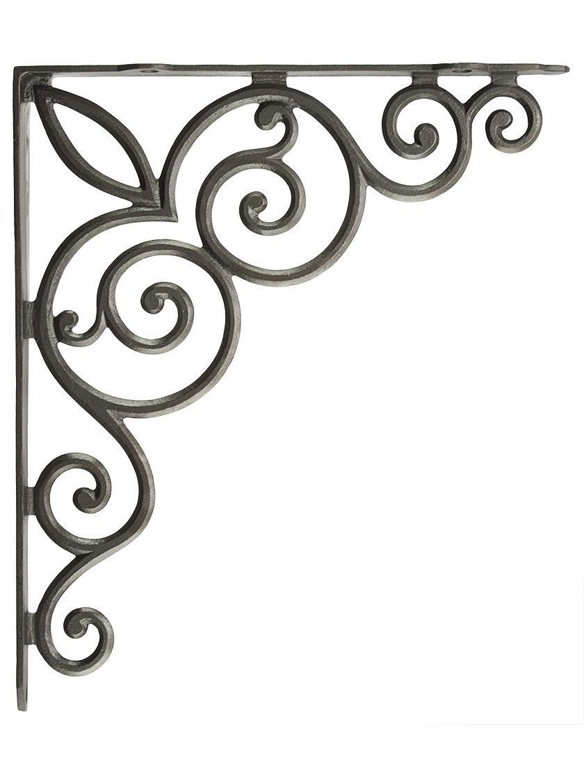 Decorative Vines Cast Iron Shelf Bracket - 10 1/8