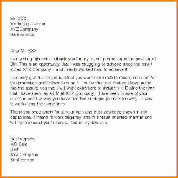 thank you letters after resignation letter employer boss job - thank you letter for promotion