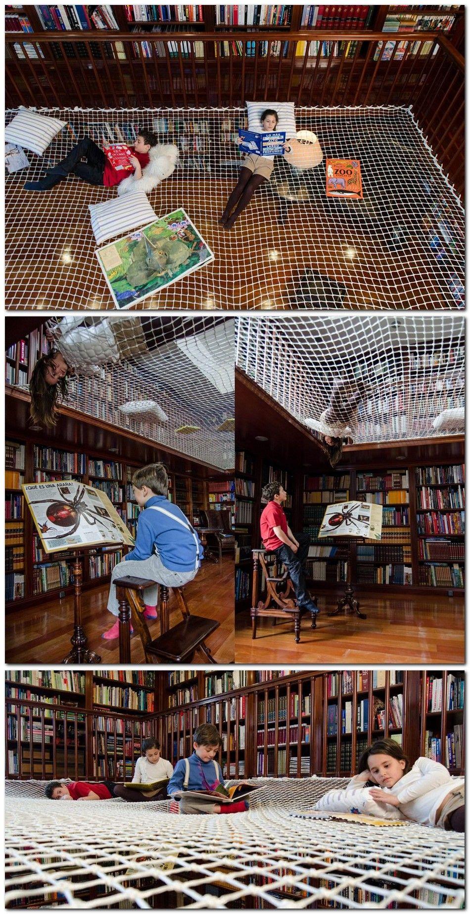 Innenarchitektur der home-lobby transformar la libreria familiar en un lugar de diversion para niños