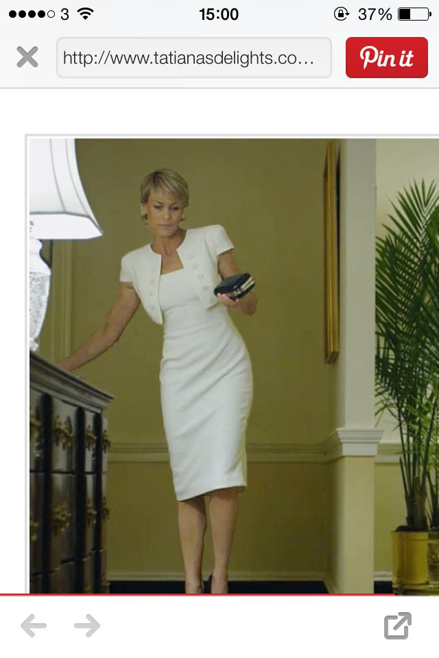 White dress claire underwood