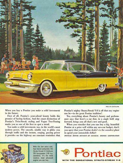 Pontiac Catalina V8 Yellow - Mad Men Art: The 1891-1970 Vintage Advertisement Art Collection