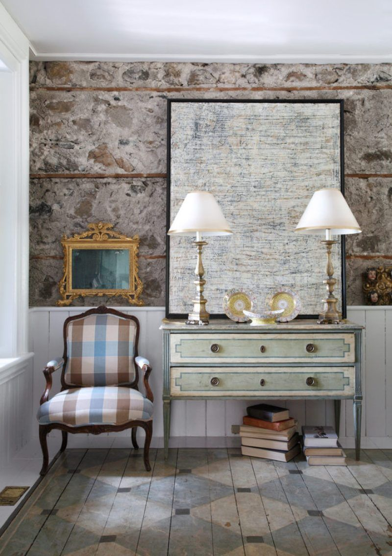 An Elegant English Country Home is part of Country Home Accessories Floors - English Country Home Style Countryside Susan Burns Design interior consulting traditional classic abstract art fine antiques gardens la cornue kitchen