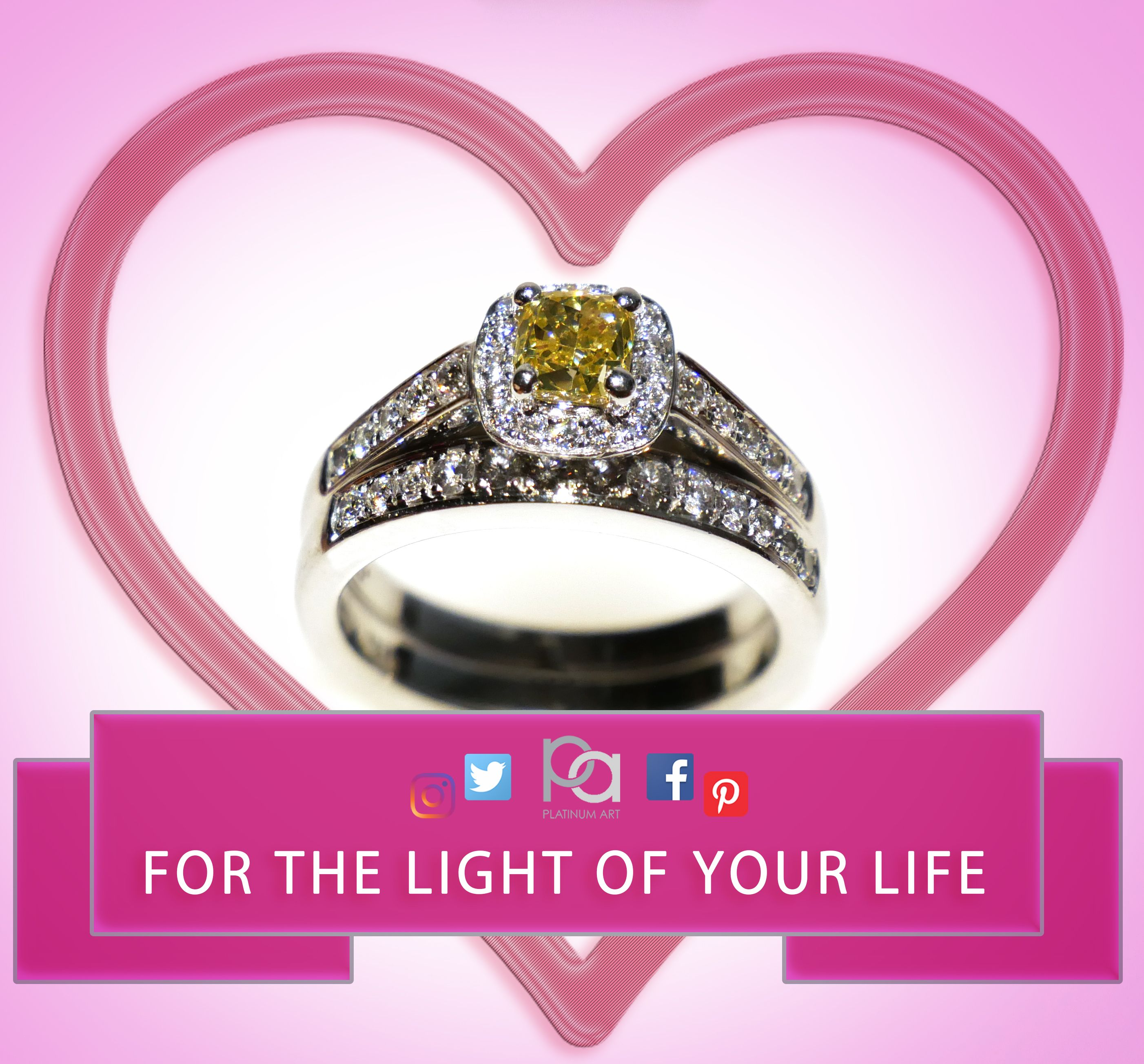 Brighten up your day with a yellow diamond ring. Guaranteed to ...