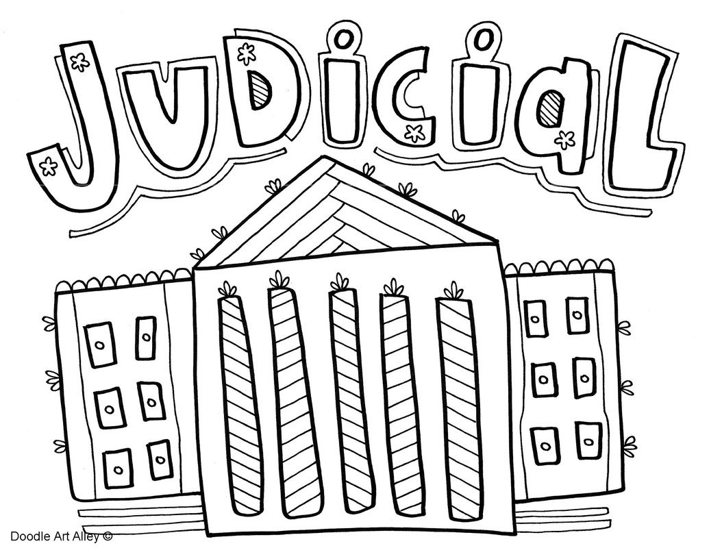 Branches Of Government Coloring Pages Classroom Doodles