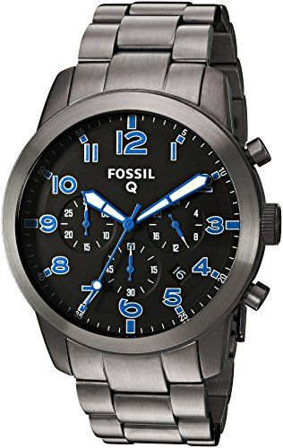 Fossil Men S Flynn Midsize Stainless Steel Quartz Leather Strap Brown 22 Casual Watch Model Bq1741ie Lady