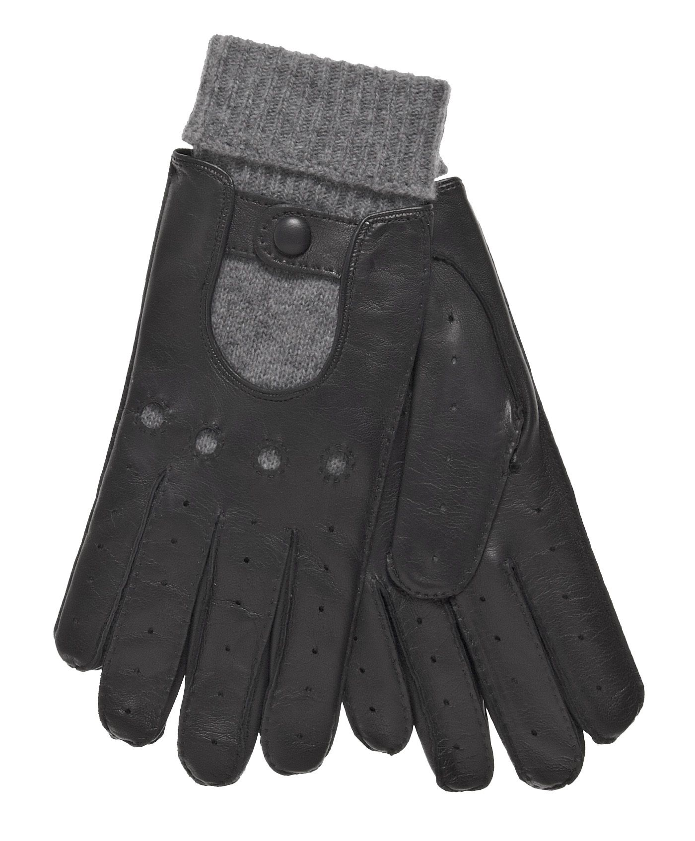 Shorty leather driving gloves fingerless - Men S Winter Leather Driving Gloves With Cashmere Lining By Fratelli Orsini Free Usa Shipping