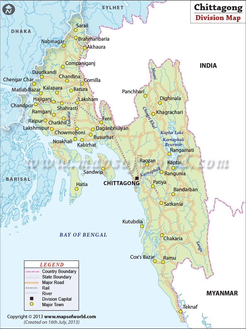 chittagong city map bangladesh Chittagong Map Districts In Chittagong Division Of Bangladesh Chittagong Map Bangladesh chittagong city map bangladesh