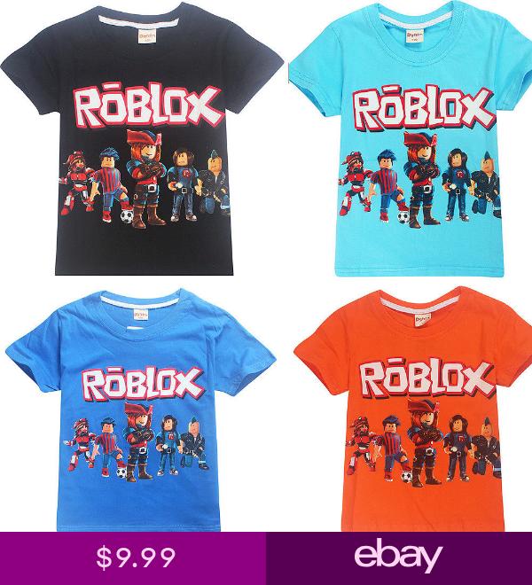 Boys Girls Roblox Kids Cartoon Casual Short Sleeve T Shirt Tops
