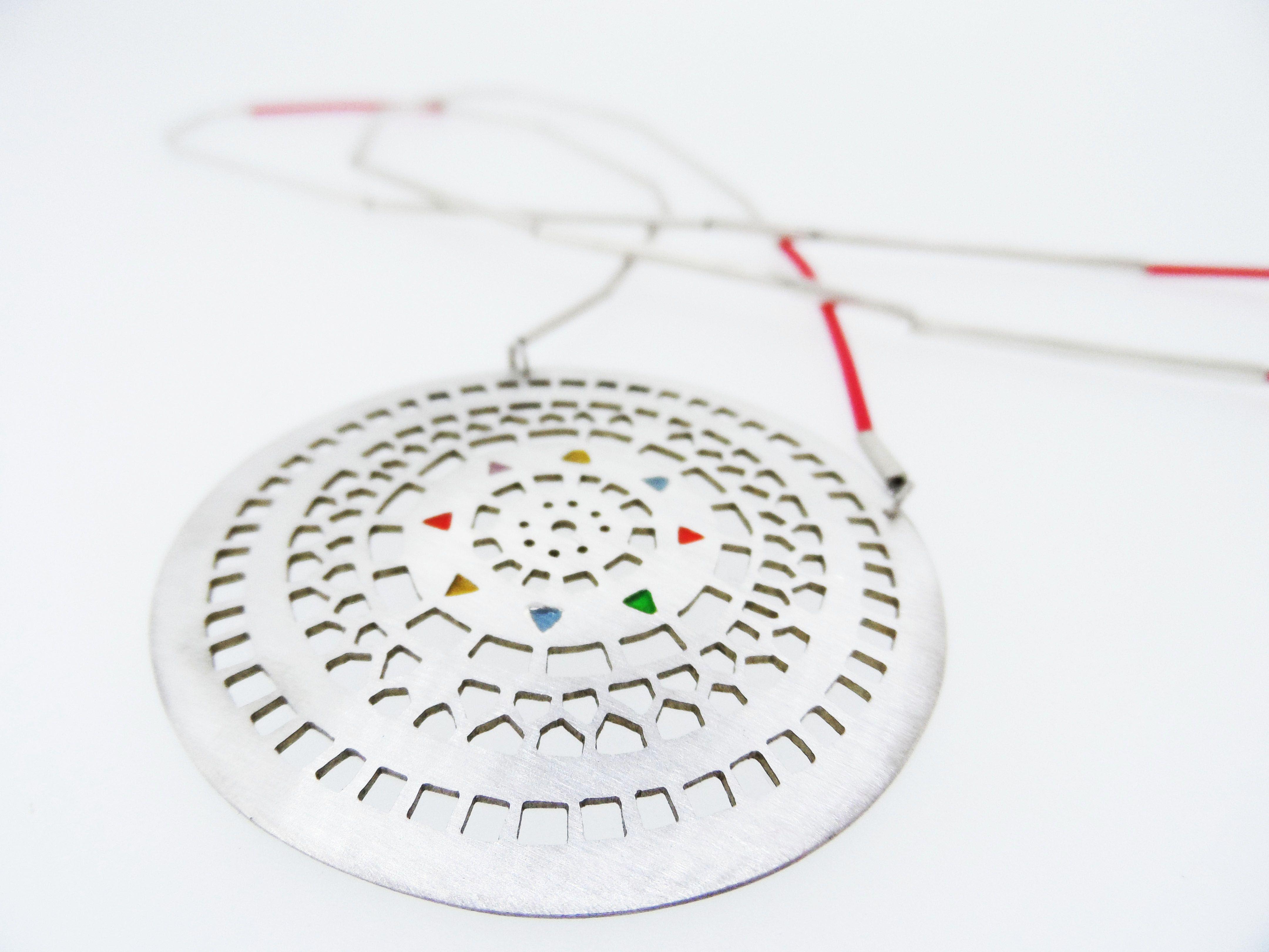 saw pierced necklace  enamel  electrical wire  shabanajacobson com