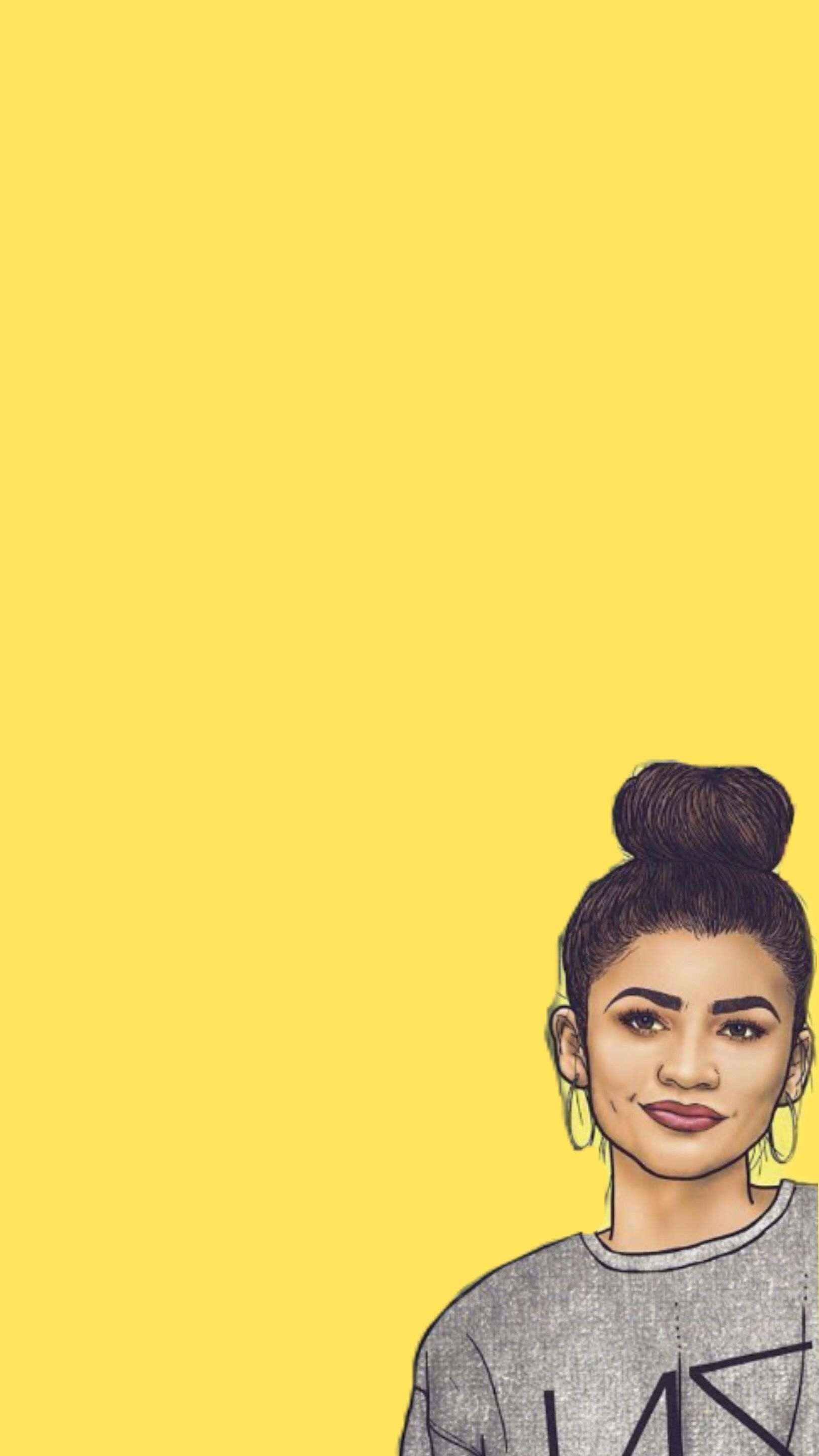 Wallpaper Background Zendaya Cute Queen Drawing Wallpaper Disney Phone Wallpaper Zendaya Coleman