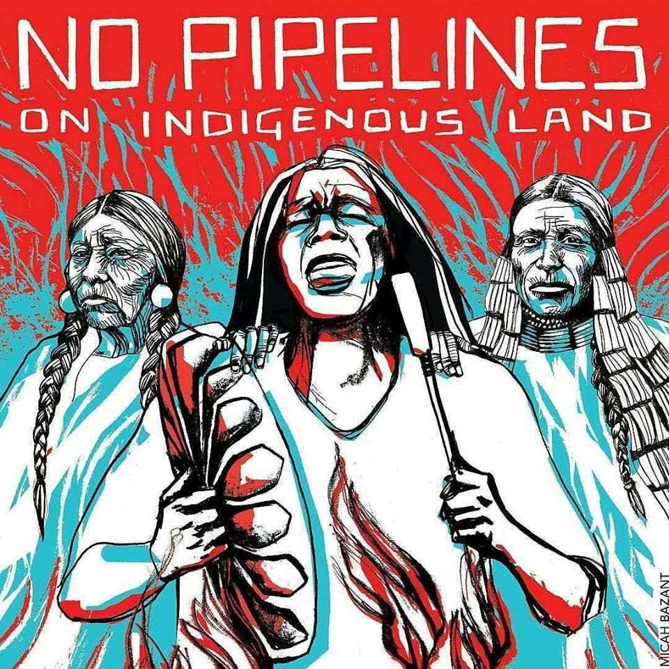 Artists Micah Bazant And Kandi Mosset Created This 12 X 16 Protest Poster No Pipelines On Indigenous Land At The Sta Culture Art Activist Art Activism Art