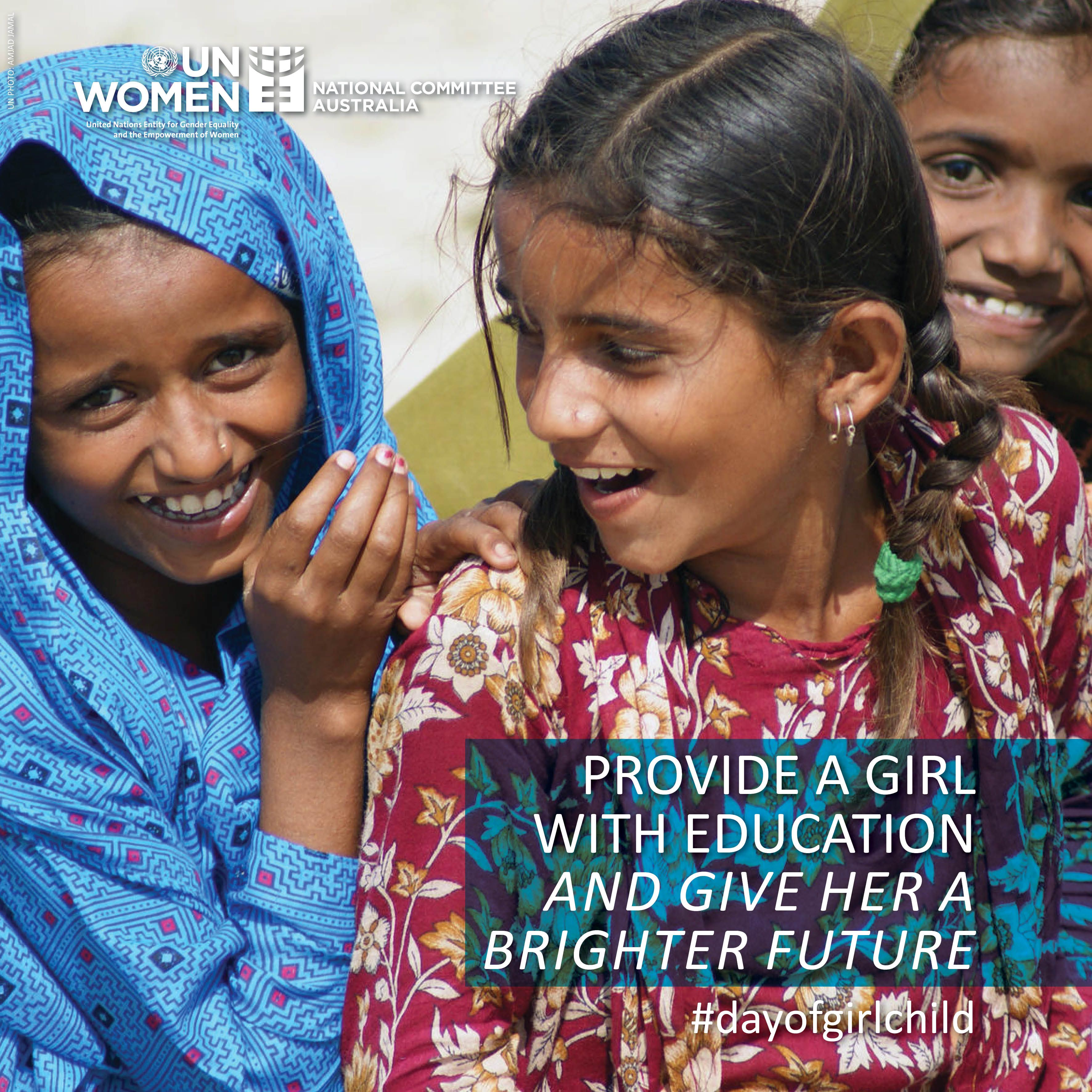 Provide a girl with education and give her a brighter future on Day of the Girl Child, October 11.