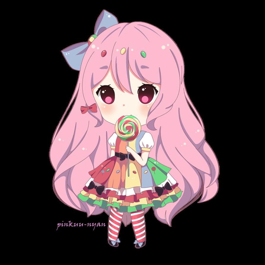 My cute one I call her cotton candy chibi Anime chibi