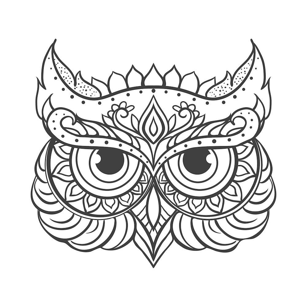 Mandalas De Buhos Faciles Dibujos Bordar Pinterest Owl Design