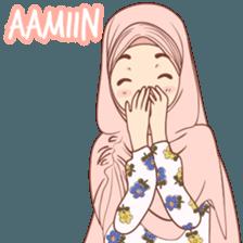 New Funny Emoji  Kiciks Muslimah 3 - Stiker LINE   LINE STORE 10