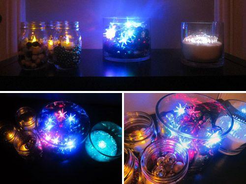 Glow in the dark centerpieces got some light filled for Glow in the dark centerpiece ideas
