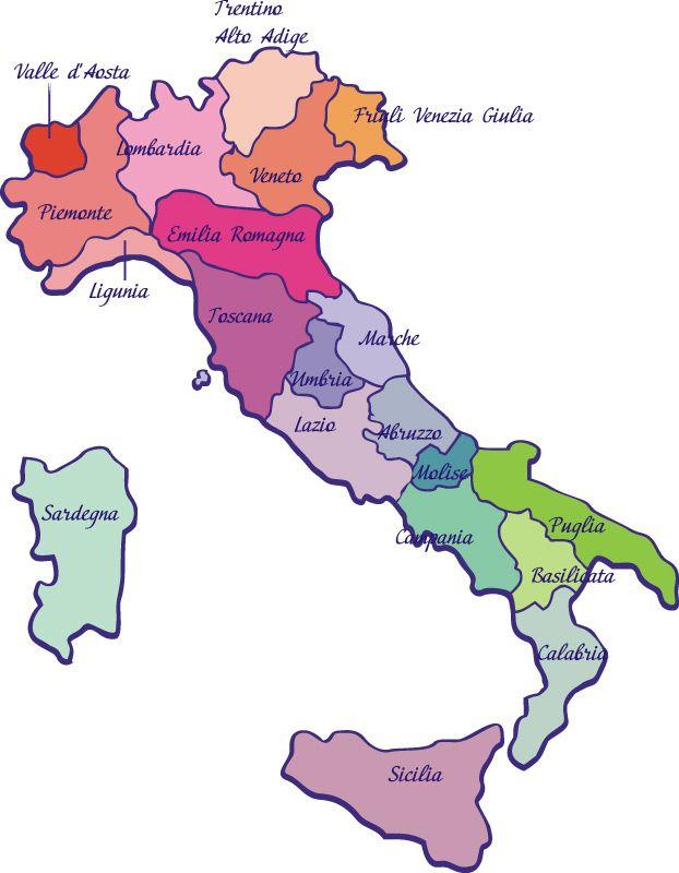 Mapa De Italia Regiones Donde Se Desarrolla El Románico - Mapa de italia
