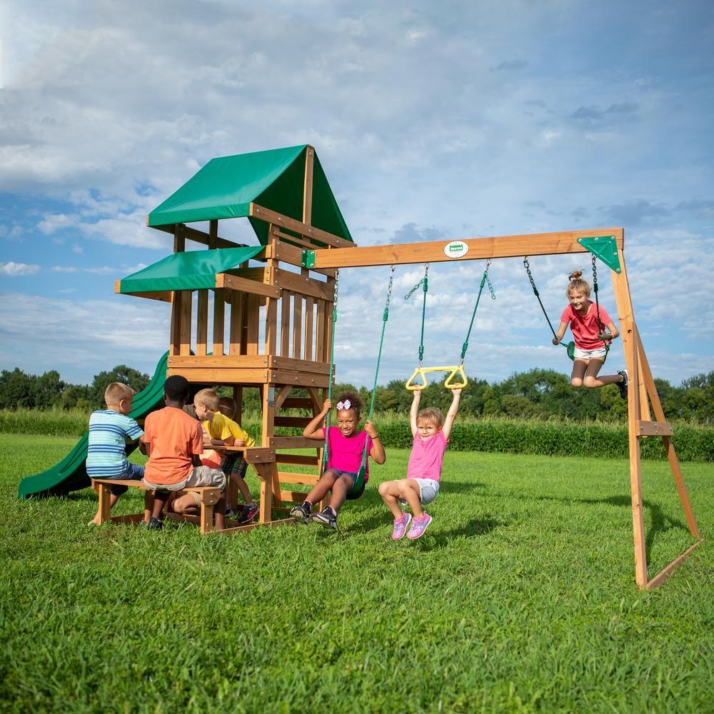 Backyard Discovery Belmont All Cedar Swing Set-2001039com ...