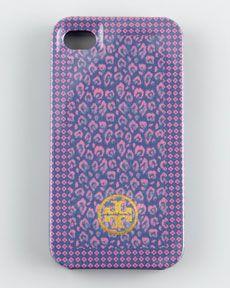Tory Burch Wray Mix Hardshell iPhone Case, Blue