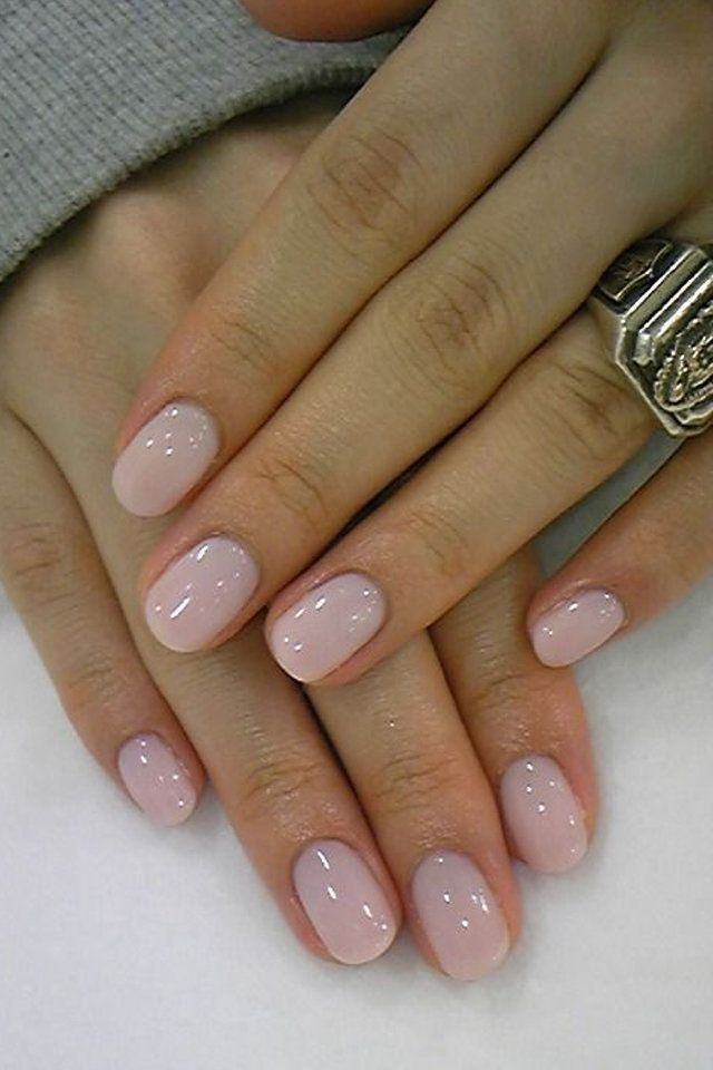 46 Short Round Acrylic Nails Art Designs | Beautiful hands, Rounded ...