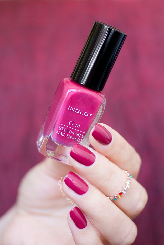 Marsala-Perfect Inglot O2M Breathable Nail Polish - Review ...