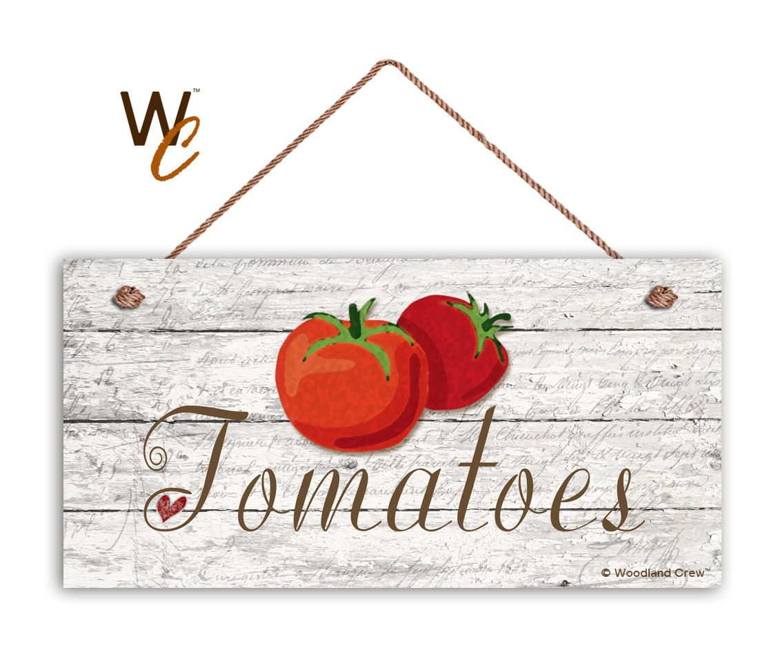 Tomatoes Sign, Garden Sign, Rustic Decor, Distressed Wood