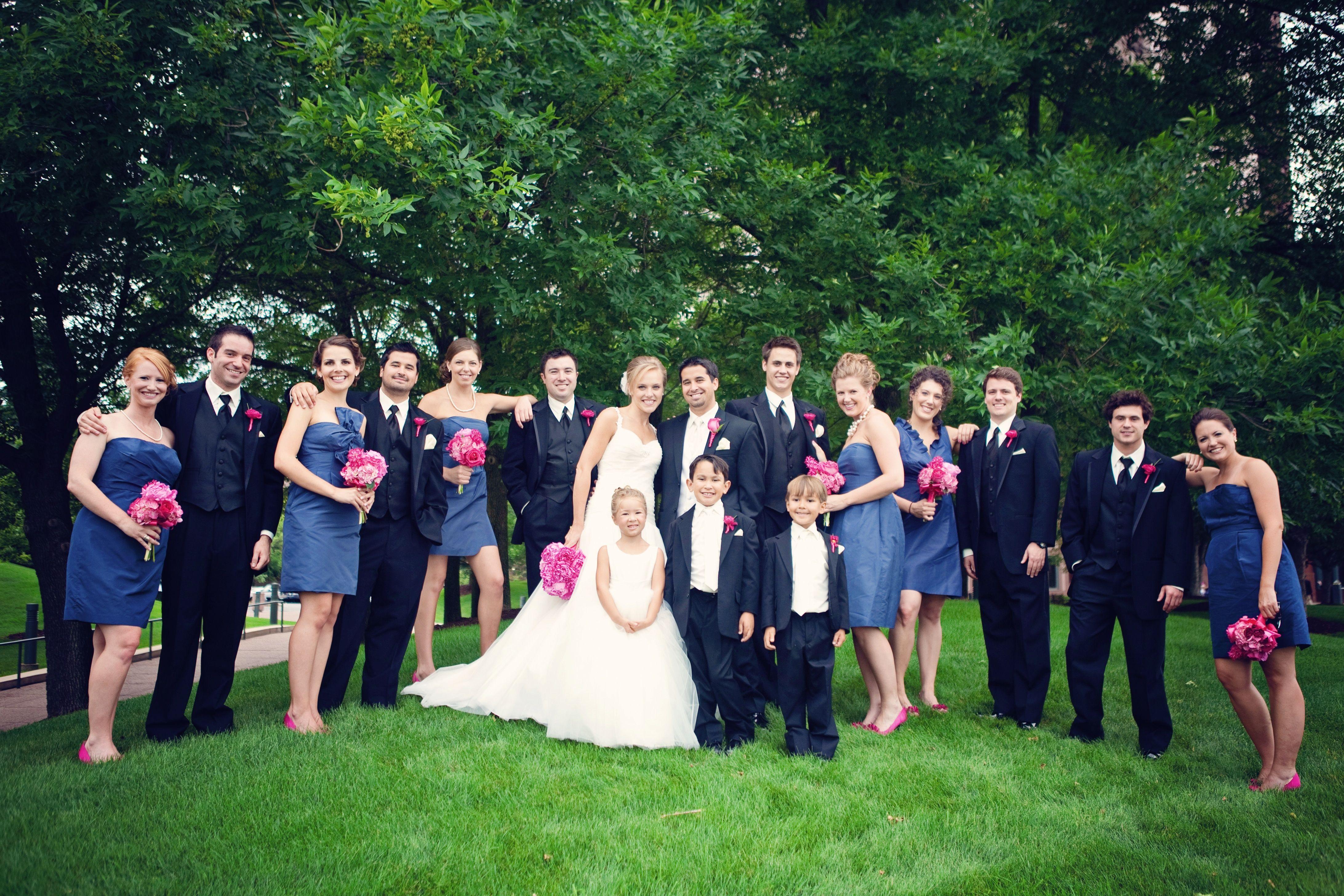 Caspian blue bridesmaid dresses