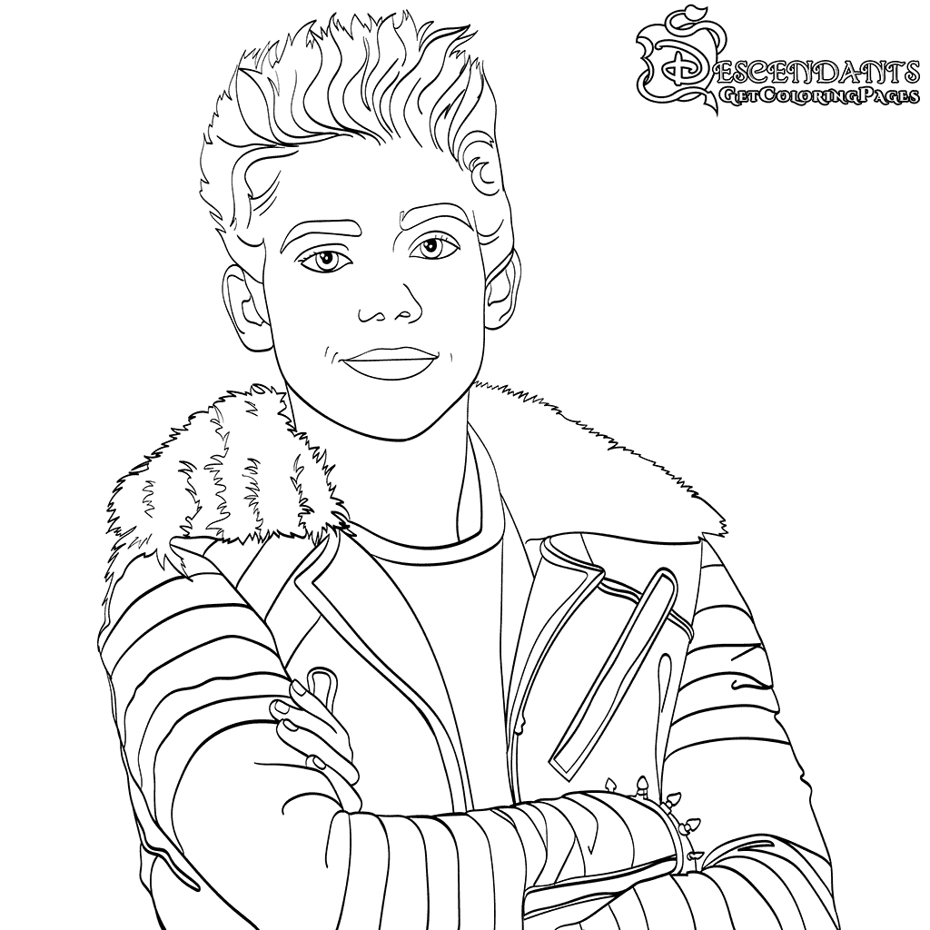 Carlos Descendants 2 Coloring Page Disclaimer We At Scribblefun Have No Intention Of Descendants Coloring Pages Disney Coloring Pages Cartoon Coloring Pages