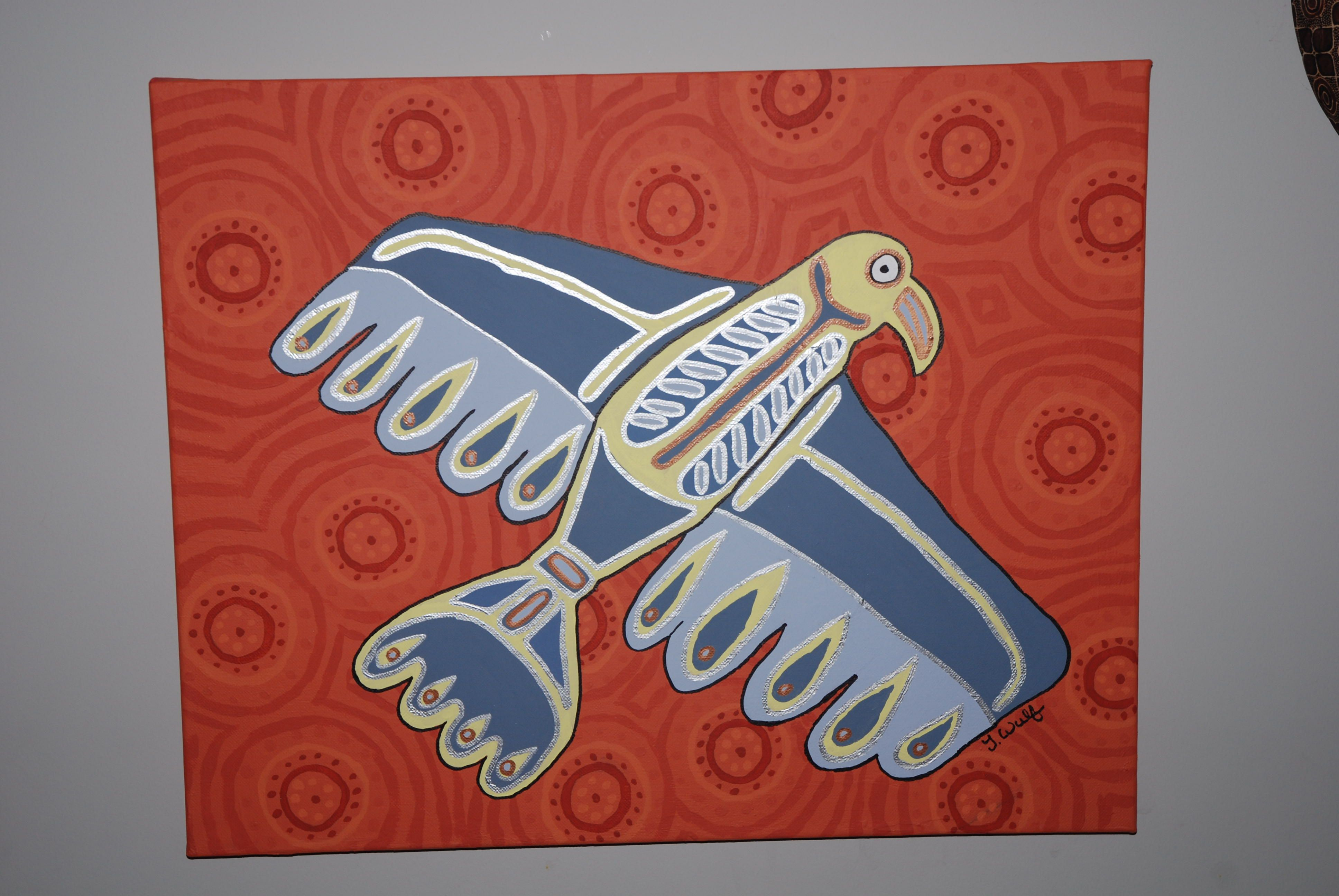 Aboriginal Inspirations Bird Artwork By T Wulf