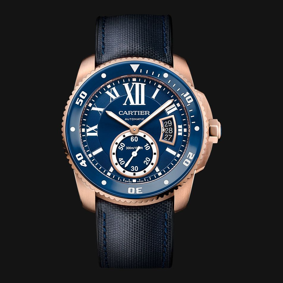 imitación Calibre de Cartier Diver azul reloj WGCA0009