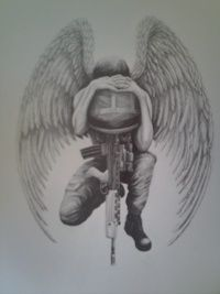 Marine Soldier With Wings Army Tattoos Soldier Tattoo Military Tattoos