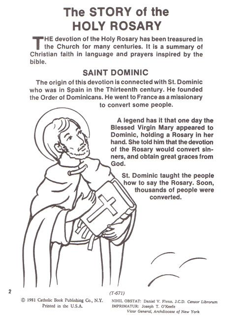 Rosary Coloring Sheet Yahoo Search Results Rosary Catholic Catholic Holy Rosary