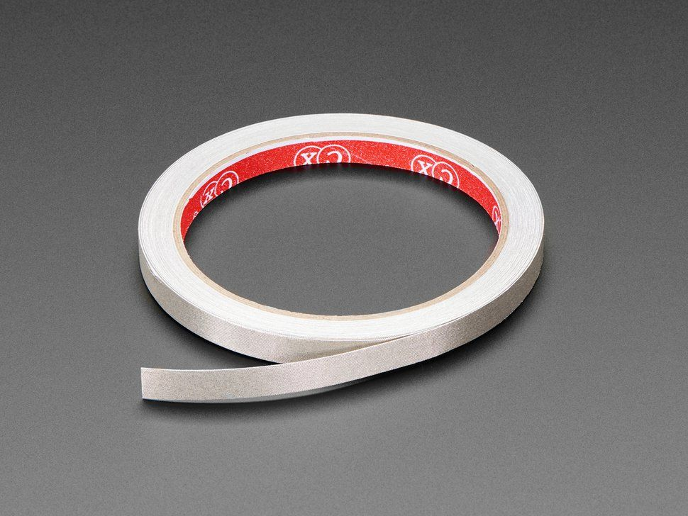 Conductive Nylon Fabric Tape - 8mm Wide x 10 meters long #fabrictape
