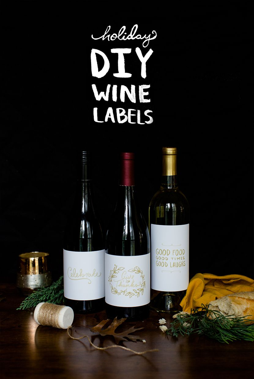 DIY Holiday Wine Labels    The Fresh Exchange