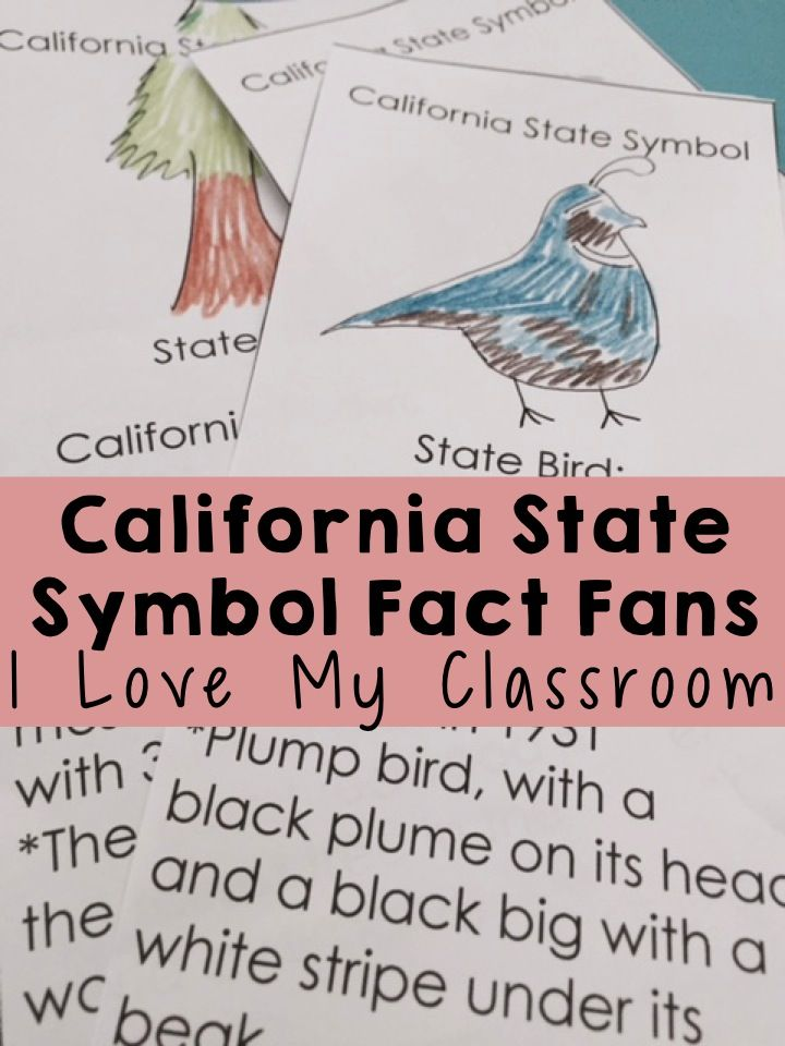California State Symbol Fact Fans 30 Facts Pinterest Students