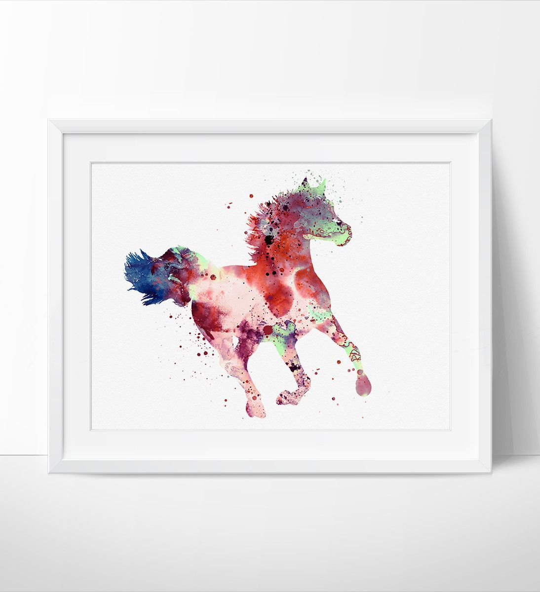 colorful horse watercolor painting horse decor watercolor horse colorful horse watercolor painting horse decor watercolor horse painting wall art print horse