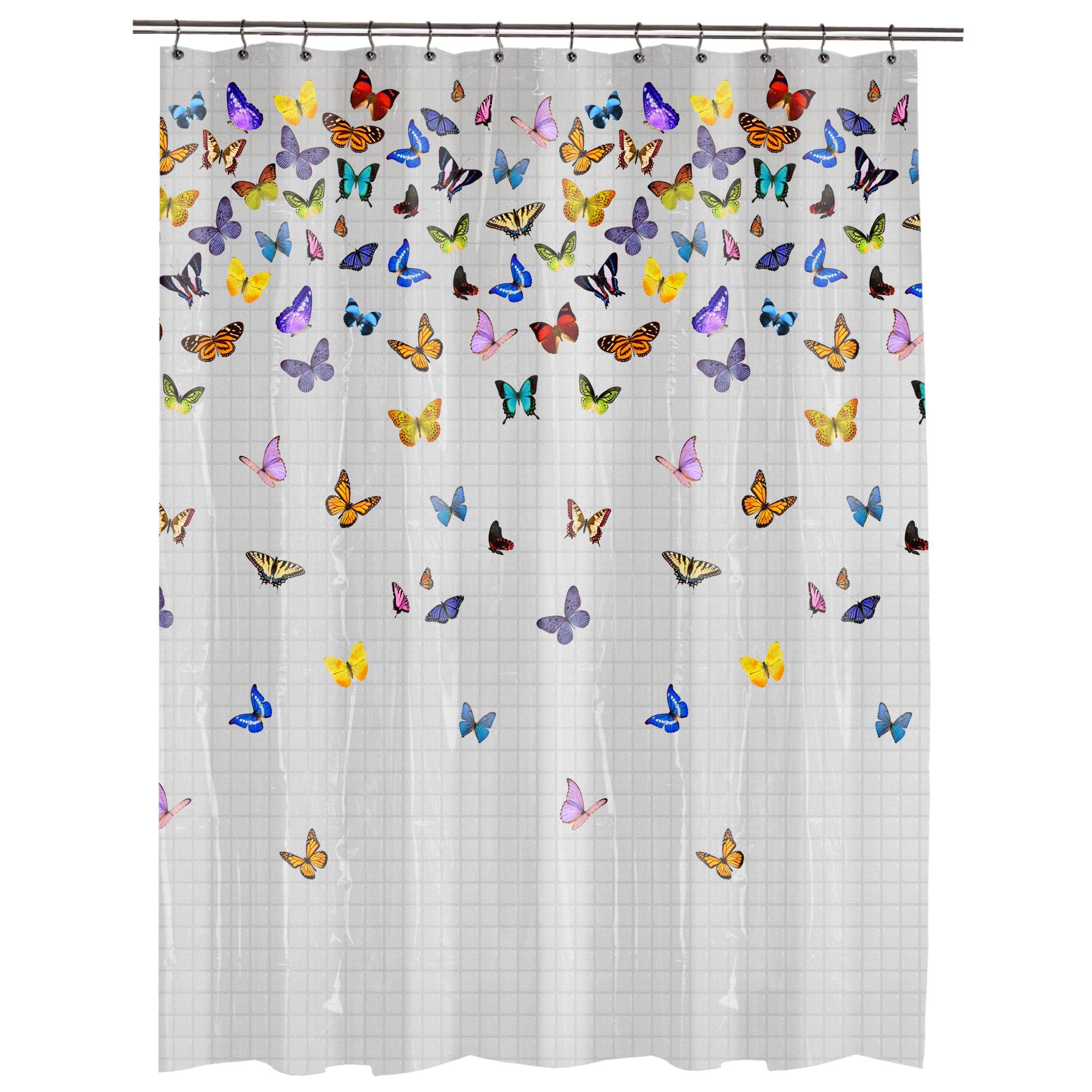 Butterfly Shower Curtain Walmart | Share