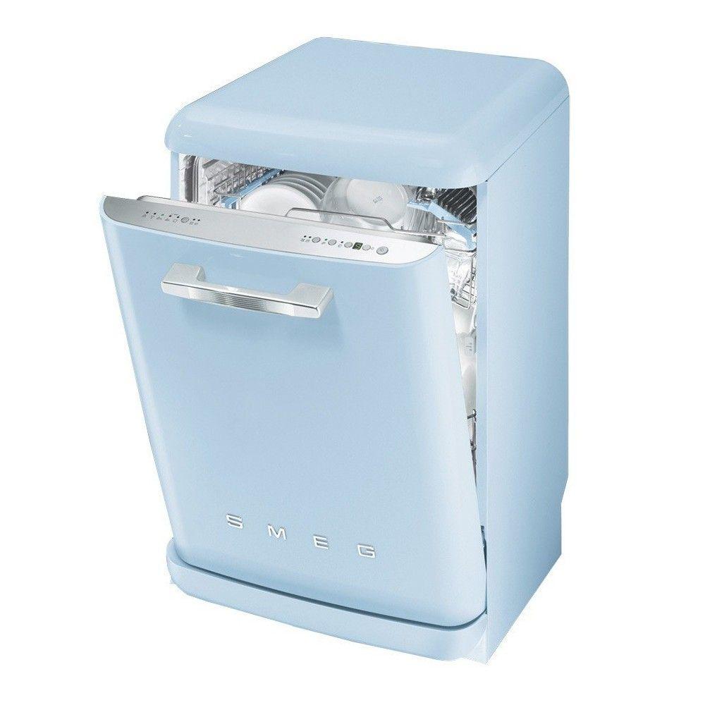 Smeg 50 39 s retro style dishwasher pastel blue blv2az 2 for 50s style kitchen appliances